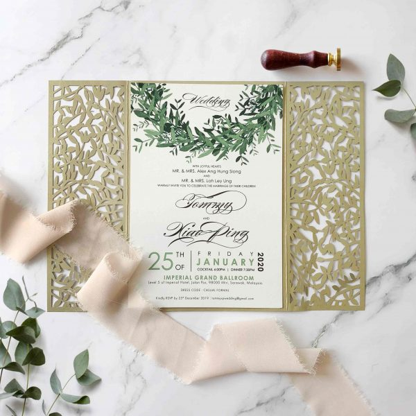 Laser Cut Wedding Invitation 1