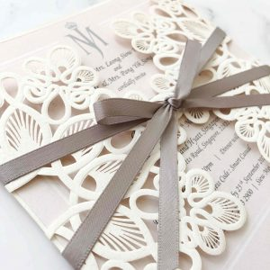Laser Cut Wedding Invitation 2