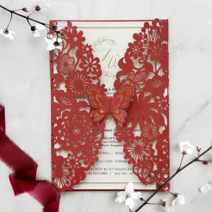 Laser Cut Wedding Invitation 4