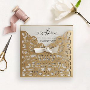 Laser Cut Wedding Invitation 12
