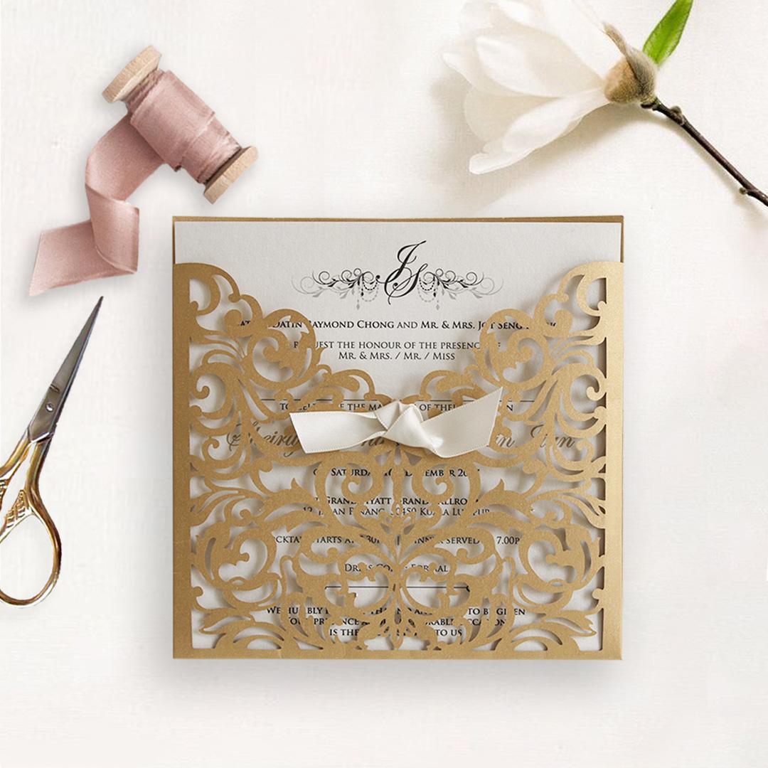 Laser Cut Wedding Invitation 2