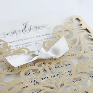 Laser Cut Wedding Invitation 4