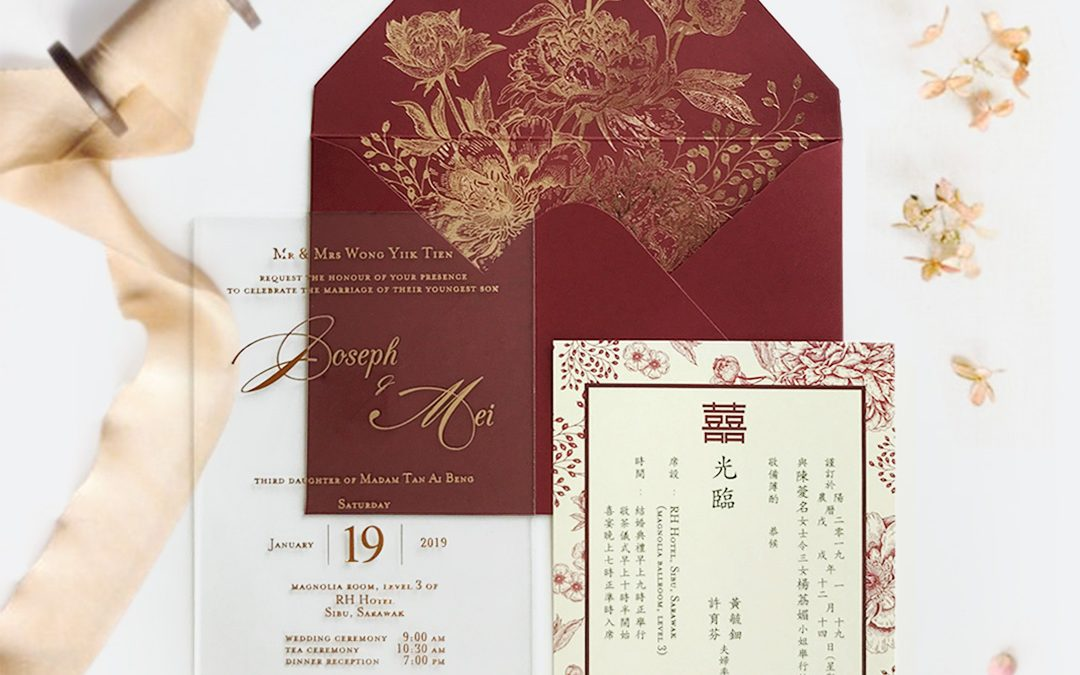 STAR OF THE MONTH: ACRYLIC WEDDING INVITATION 2