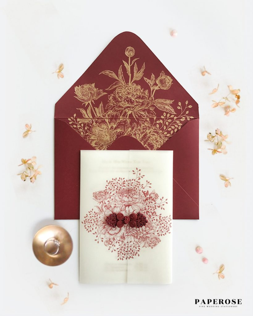 Oriental Wedding Card