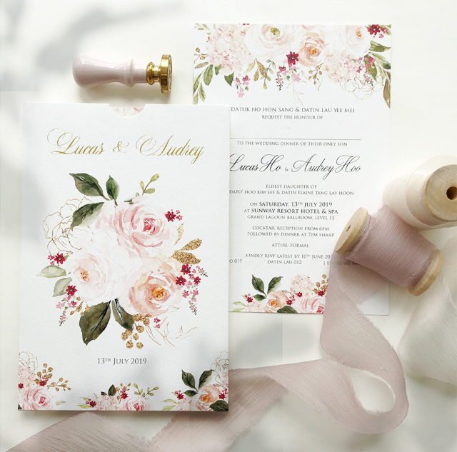 Pastel Colour Wedding Card