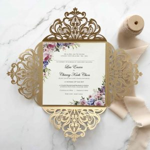 Laser Cut Wedding Invitation 3