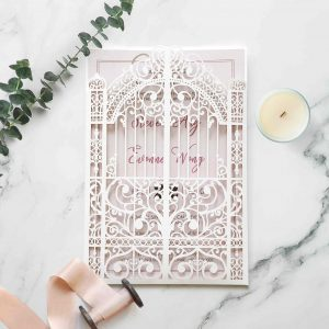 Laser Cut Wedding Invitation 5