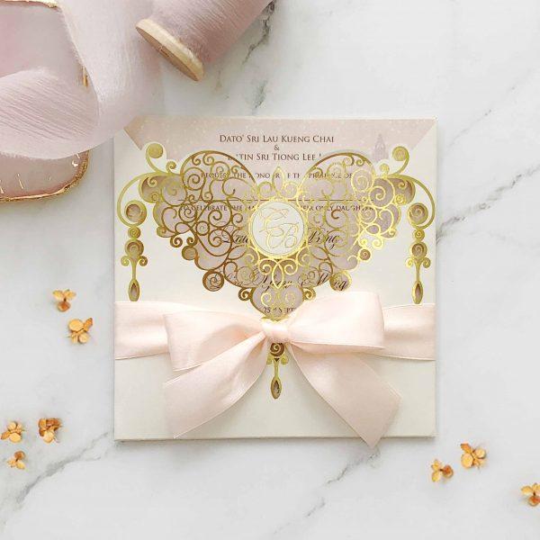 Laser Cut Wedding Invitation 1