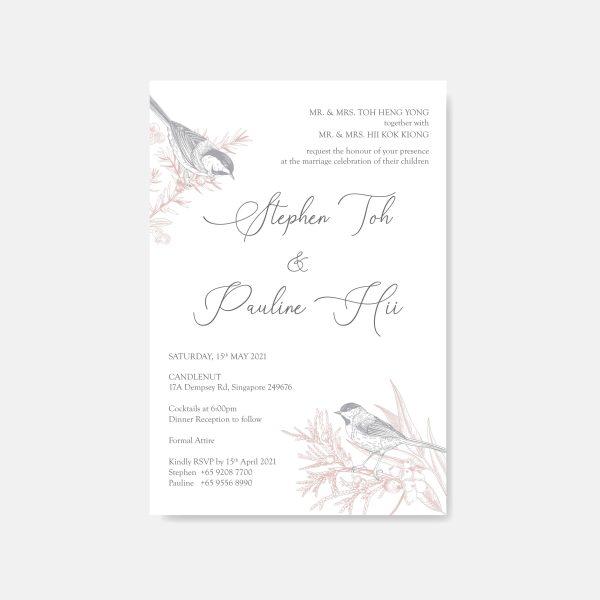 RAISED LETTER WEDDING INVITATION 1