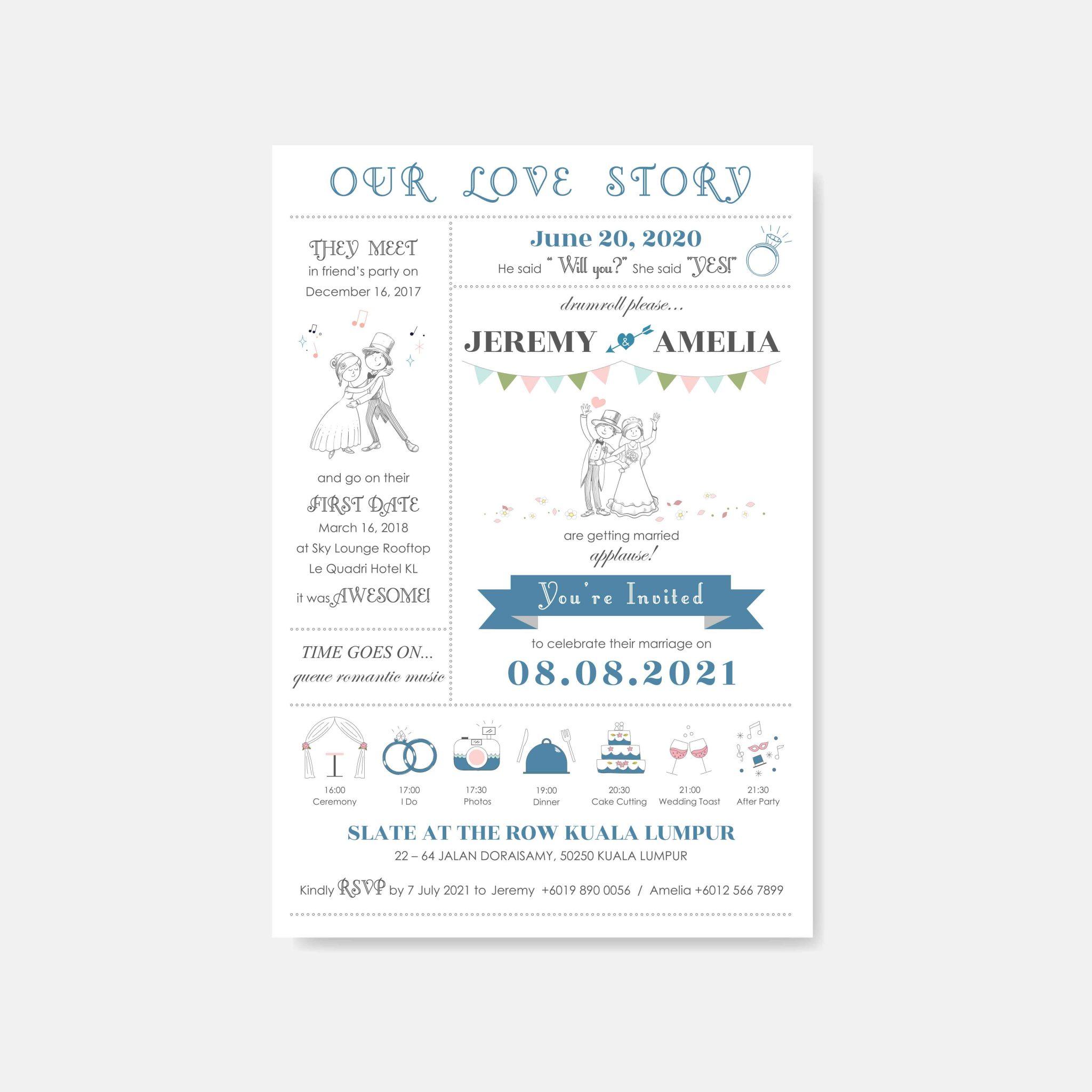 RAISED LETTER WEDDING INVITATION 14