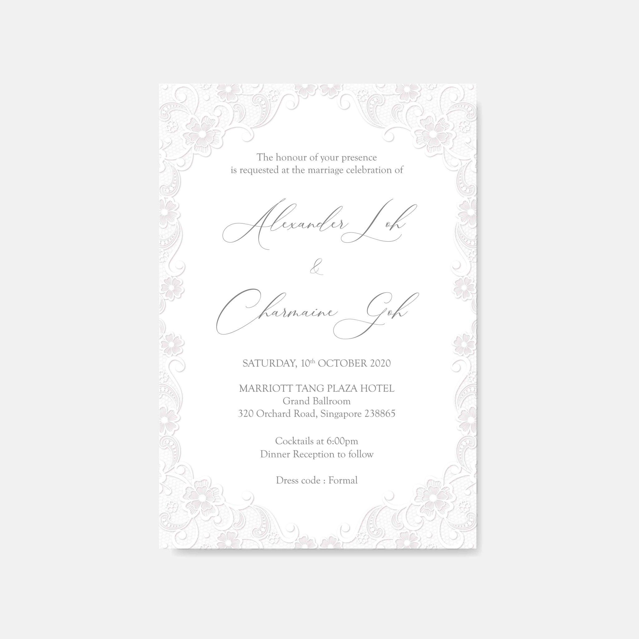 RAISED LETTER WEDDING INVITATION 15