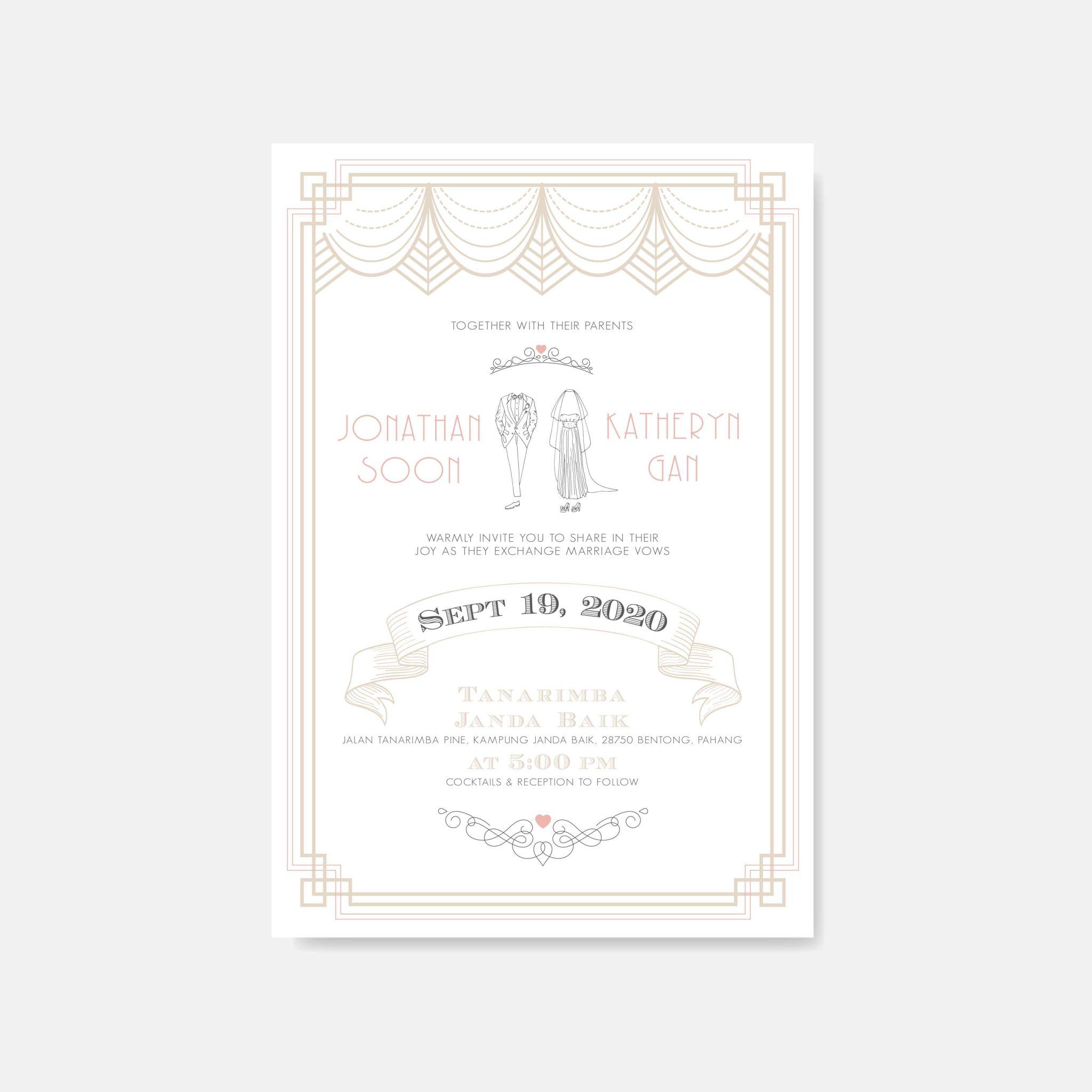 RAISED LETTER WEDDING INVITATION 16
