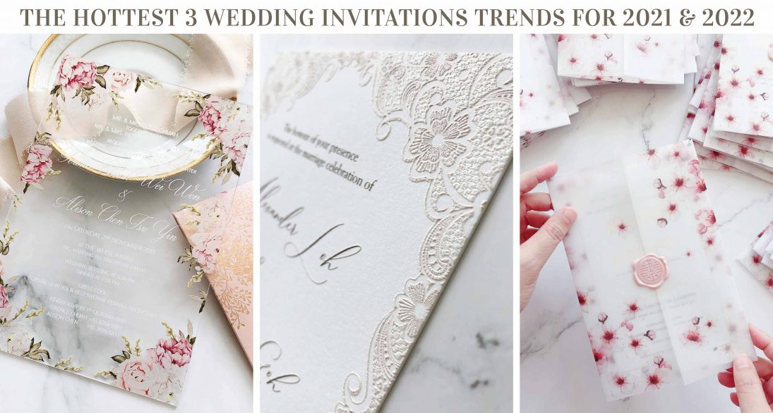 The Hottest 3 Wedding Invitations Trends