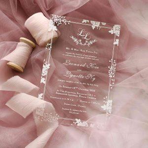 ACRYLIC WEDDING INVITATION (WHITEINK) 5