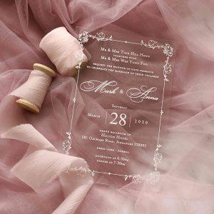 ACRYLIC WEDDING INVITATION (WHITEINK) 6