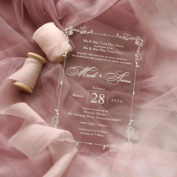 ACRYLIC WEDDING INVITATION (WHITEINK) 1