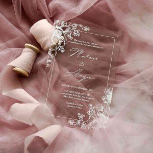 ACRYLIC WEDDING INVITATION (WHITEINK) 7