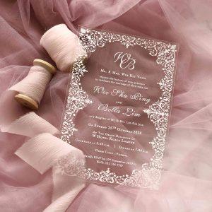 ACRYLIC WEDDING INVITATION (WHITEINK) 8