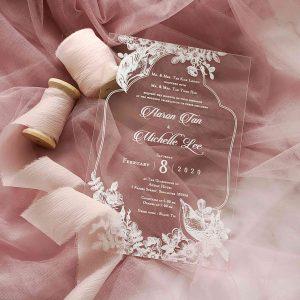 ACRYLIC WEDDING INVITATION (WHITEINK) 9