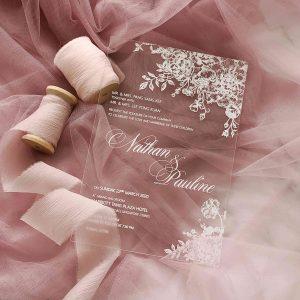 ACRYLIC WEDDING INVITATION (WHITEINK) 10