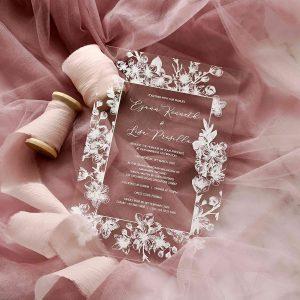 ACRYLIC WEDDING INVITATION (WHITEINK) 11