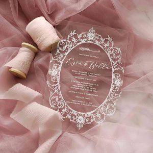 ACRYLIC WEDDING INVITATION (WHITEINK) 13