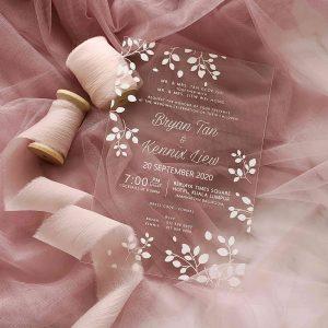 ACRYLIC WEDDING INVITATION (WHITEINK) 15