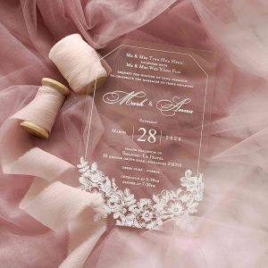 ACRYLIC WEDDING INVITATION (WHITEINK) 2