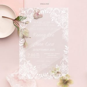 ACRYLIC WEDDING INVITATION (WHITEINK) 3