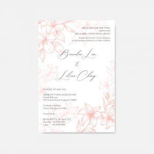 RAISED LETTER WEDDING INVITATION 18