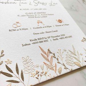 RAISED LETTER WEDDING INVITATION 3