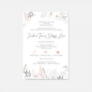 RAISED LETTER WEDDING INVITATION 19