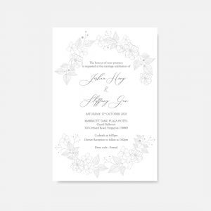 RAISED LETTER WEDDING INVITATION 20