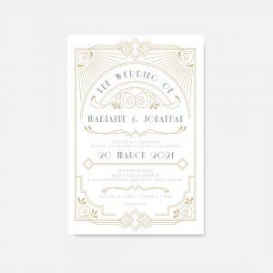 RAISED LETTER WEDDING INVITATION 2