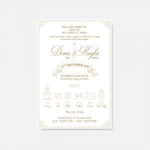 RAISED LETTER WEDDING INVITATION 5